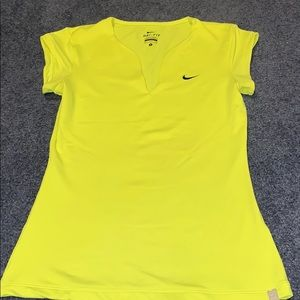 Nike Dri-Fit Neon Yellow Short Sleeve T Shirt